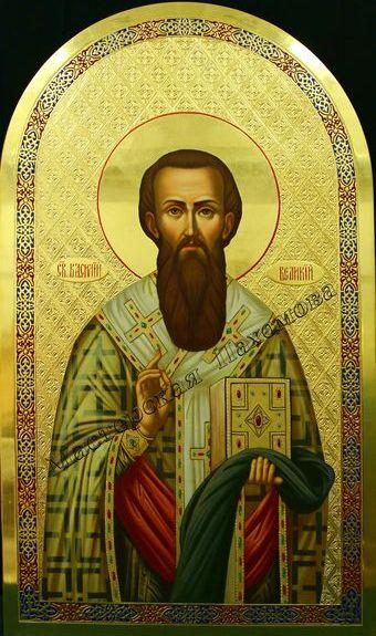 Святитель Василий Великий. Икона темперой