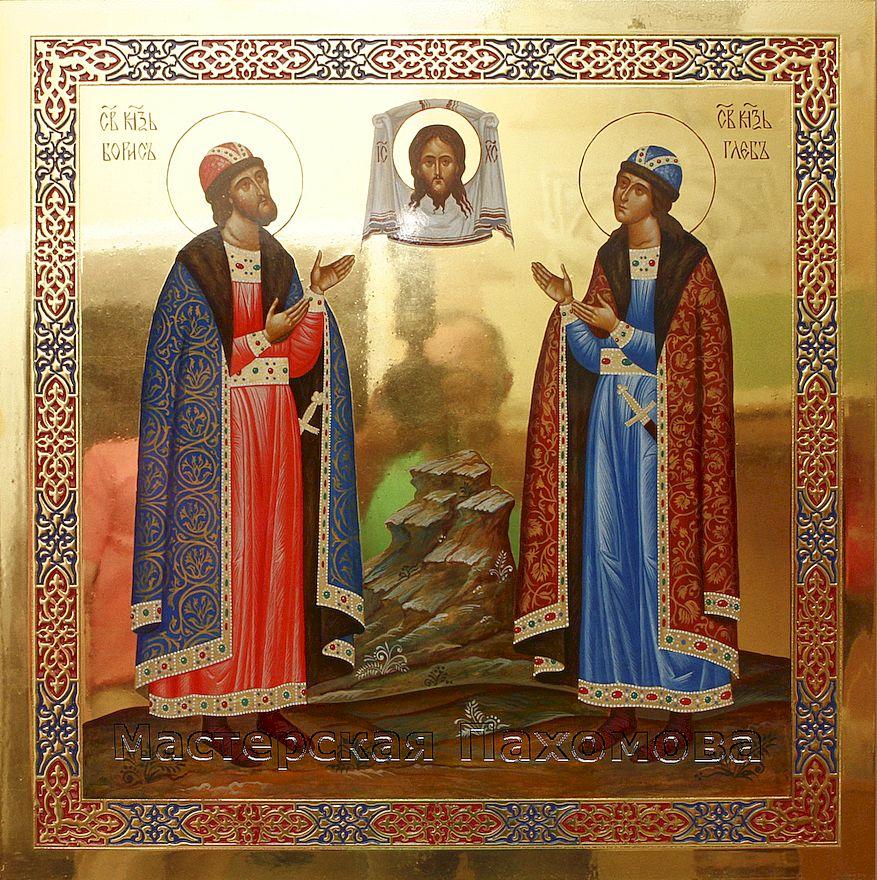 Святые благоверные князья Борис и Глеб. Праздничный ряд иконостаса