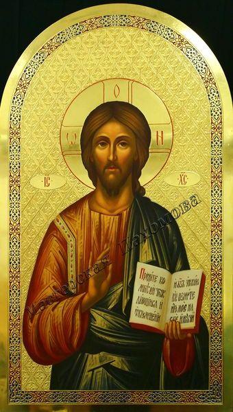Спаситель Благословляющий. Фряжский стиль. Икона на золотом фоне