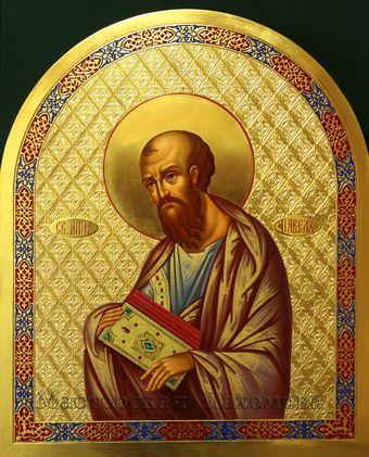 Иконостас - деисусный чин. Святой апостол Павел. Икона ручной работы!