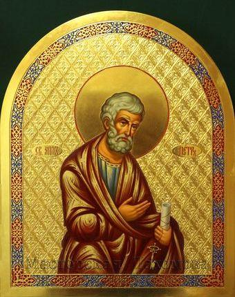 Икона апостола Петра с ключами- писанная икона из деисусного чина на заказ