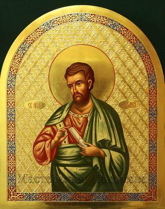 Святой апостол Варфоломей. Икона изготовлена в иконописной мастерской Пахомова
