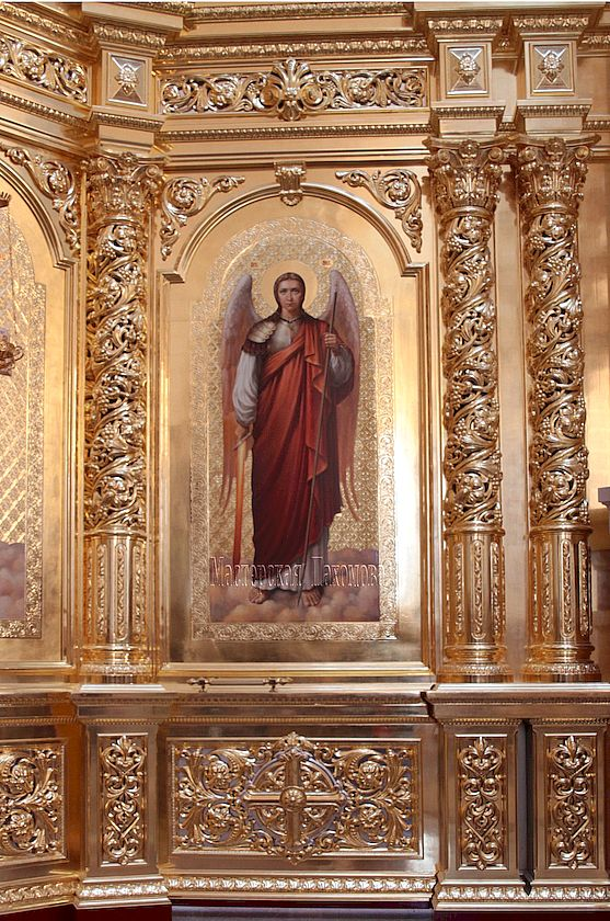 Икона Архангела Михаила написана на заказ. Ручная работа, золочение