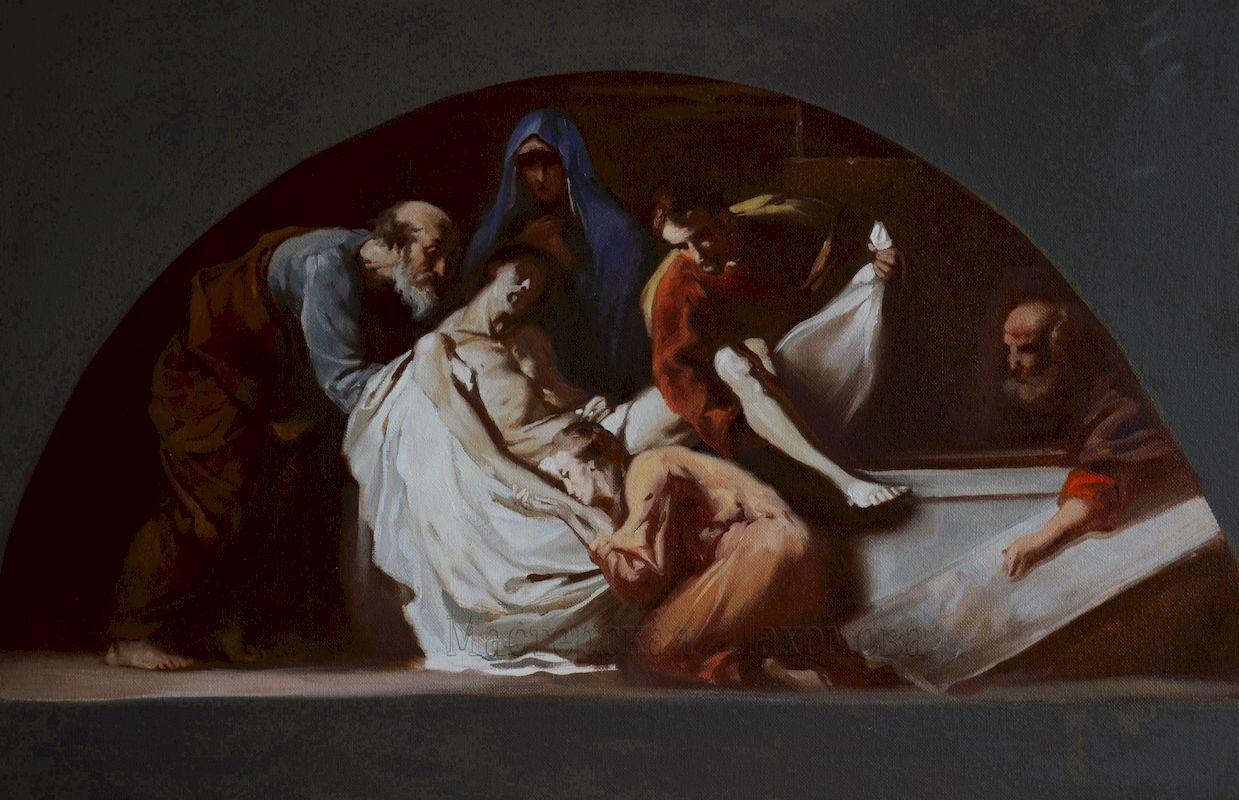 Погребение Христа! Авторская работа художника и иконописца М. Плотникова