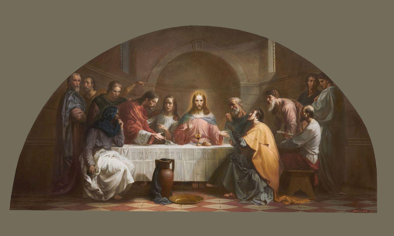 Тайная вечеря- картина для проекта росписи стен храма. Авторская работа М.Плотников