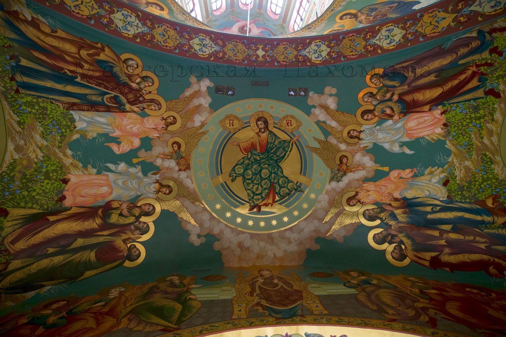 Вознесение Господне! Роспись потолка в Храме Христа Спасителя