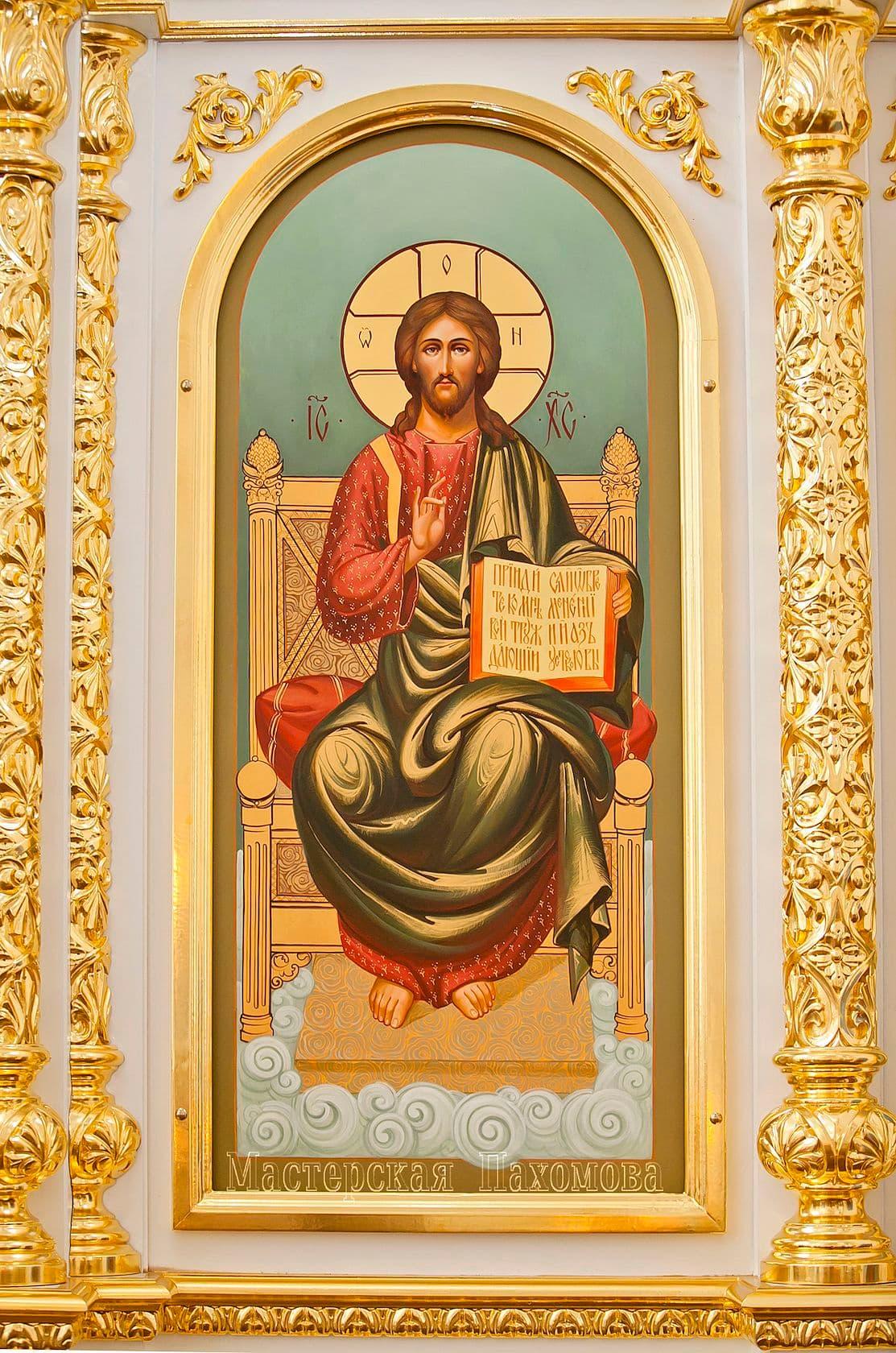 Местная икона - Спас на троне