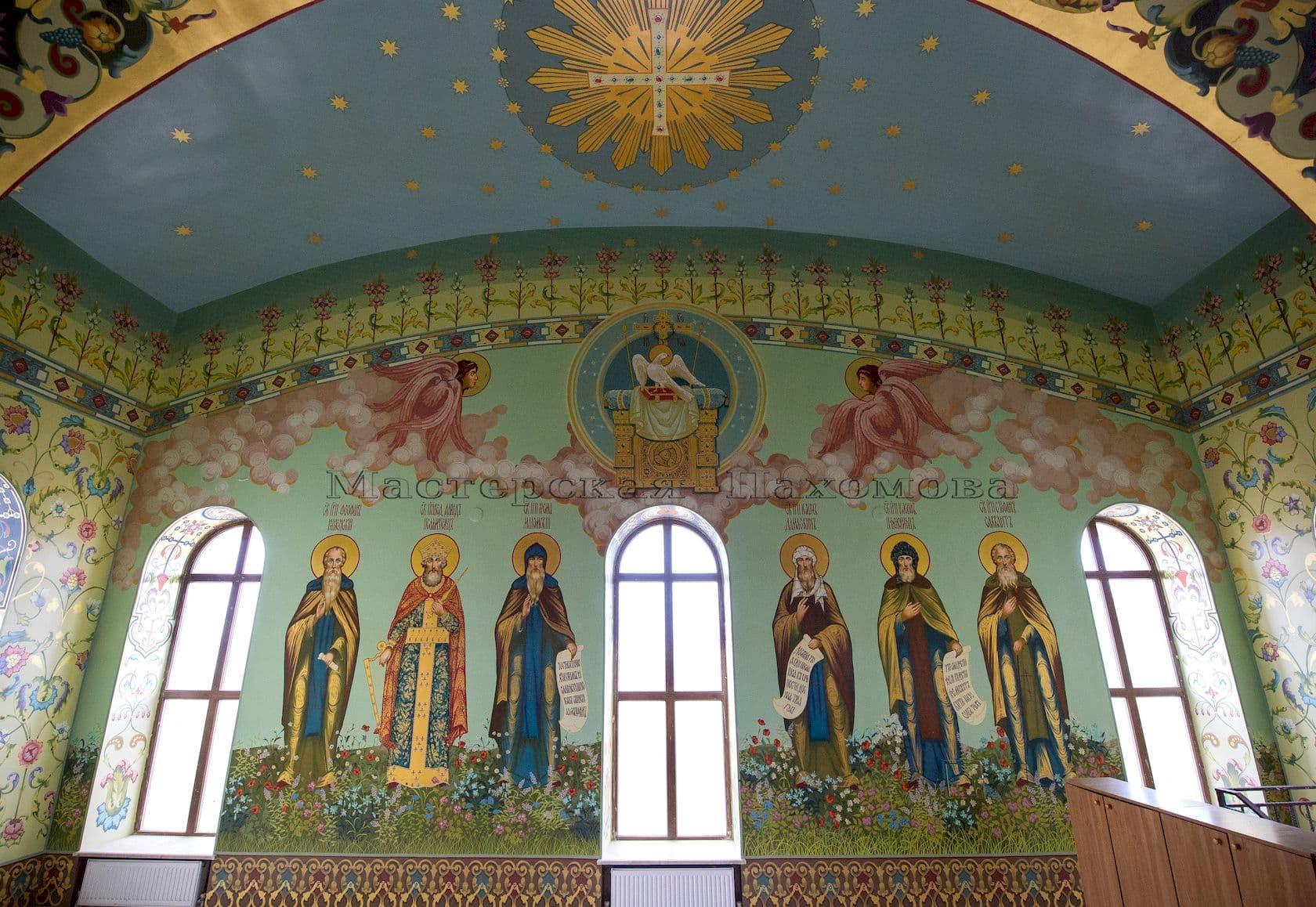 Монументальная Храмовая живопись - ушаковское письмо