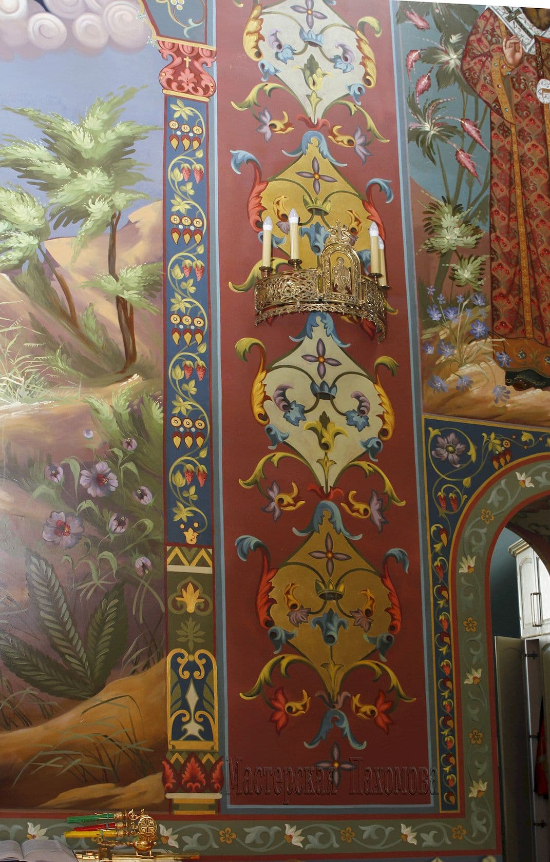 Орнамент в храме, роспись стен, иконопись г. Пятигорск