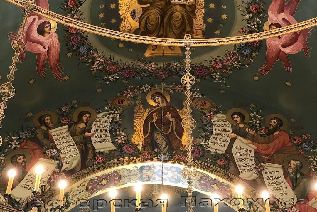 Пятигорский храм Христа Спасителя- фряжская манера письма