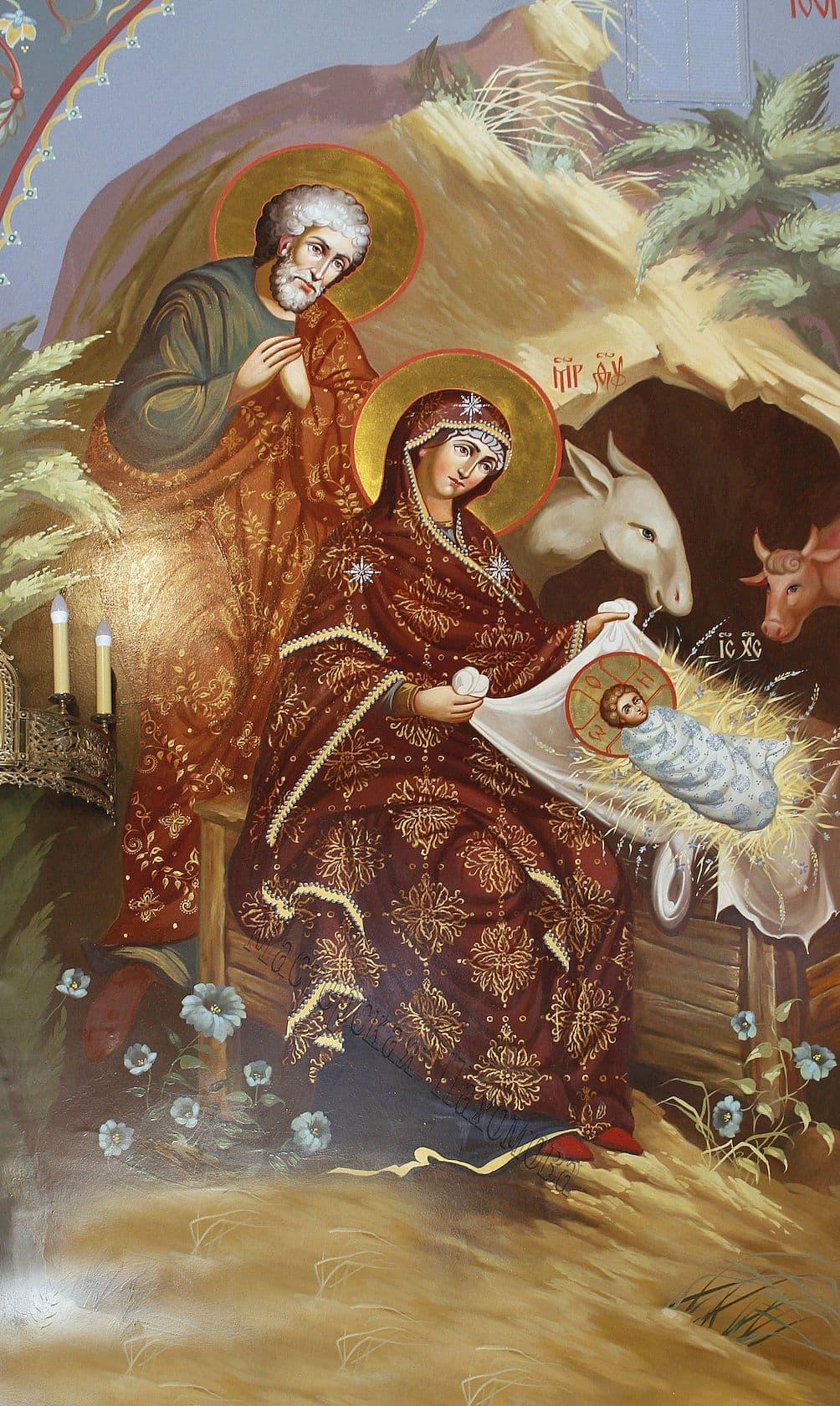Рождество Господа нашего Иисуса Христа, стенопись