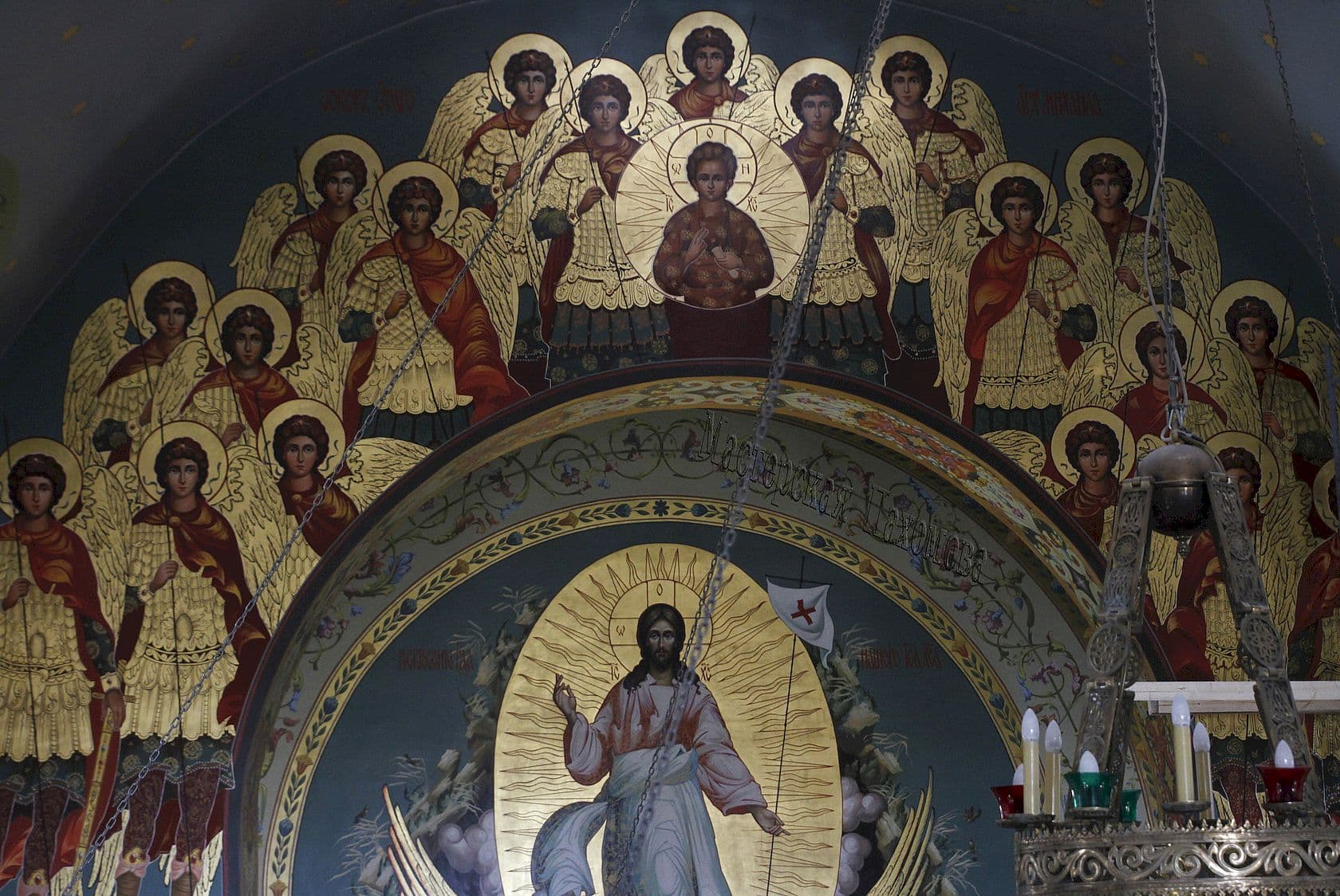Роспись Храма в Ушаковском стиле, роспись по золоту