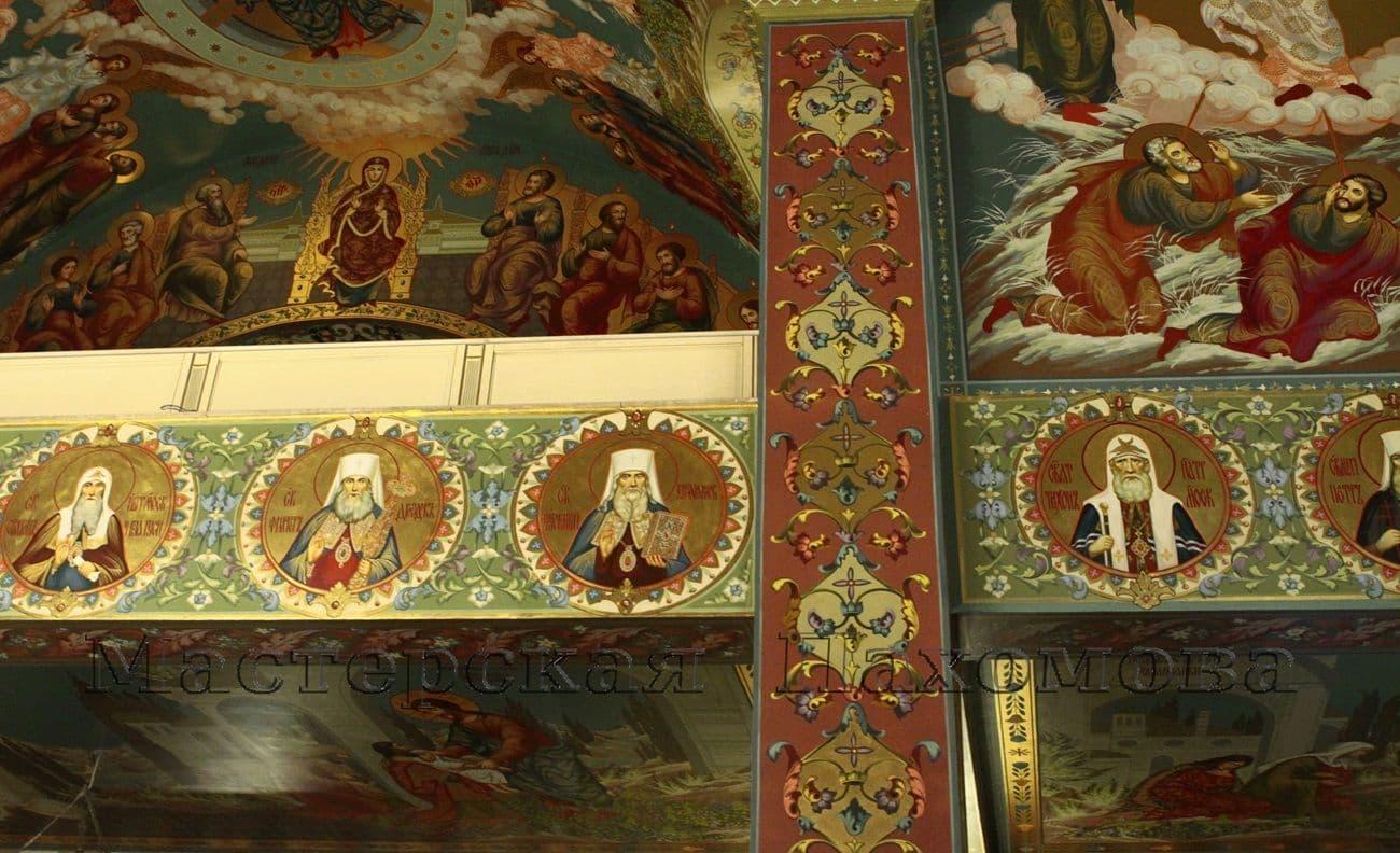Ушаковский стиль иконописи. Золочение фонов сусальным золотом
