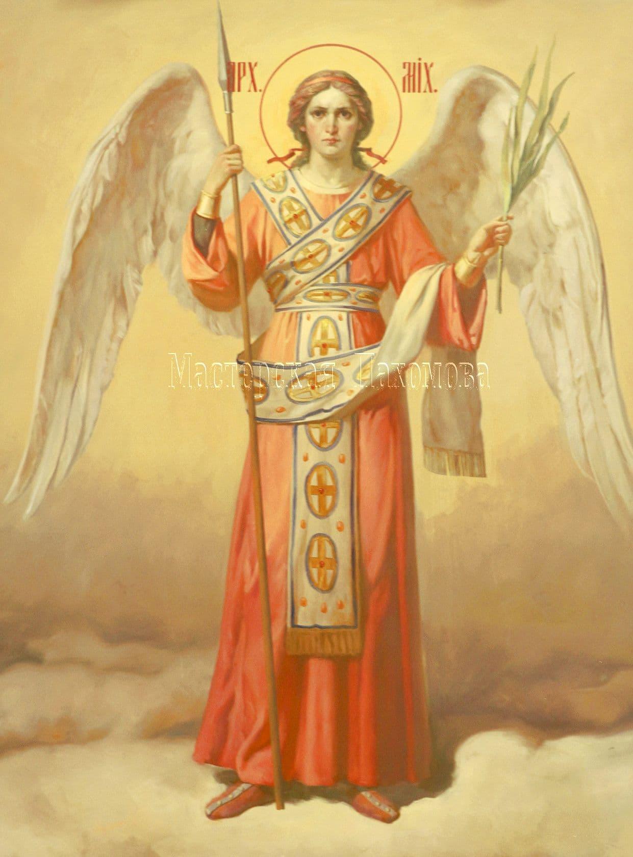 Икона Архангела Михаила. Академический стиль росписи храма