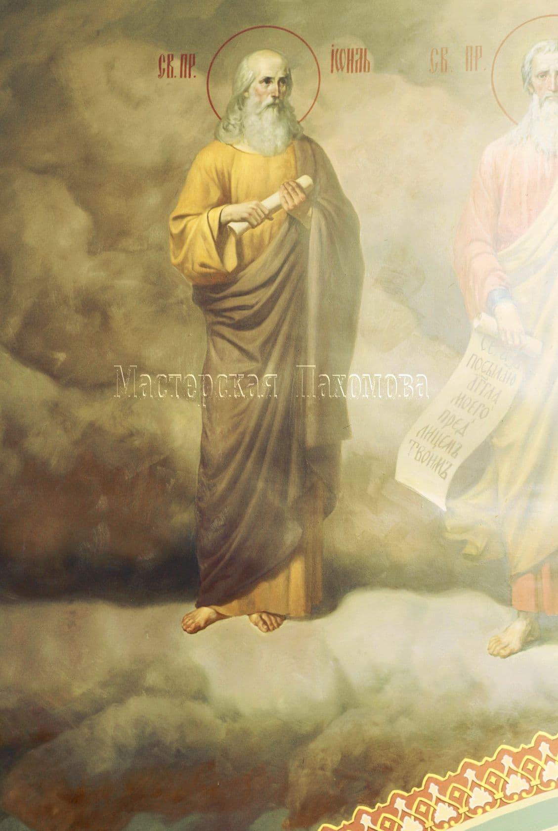 Святой пророк Исайя. Профессиональная роспись стен художниками-иконописцами