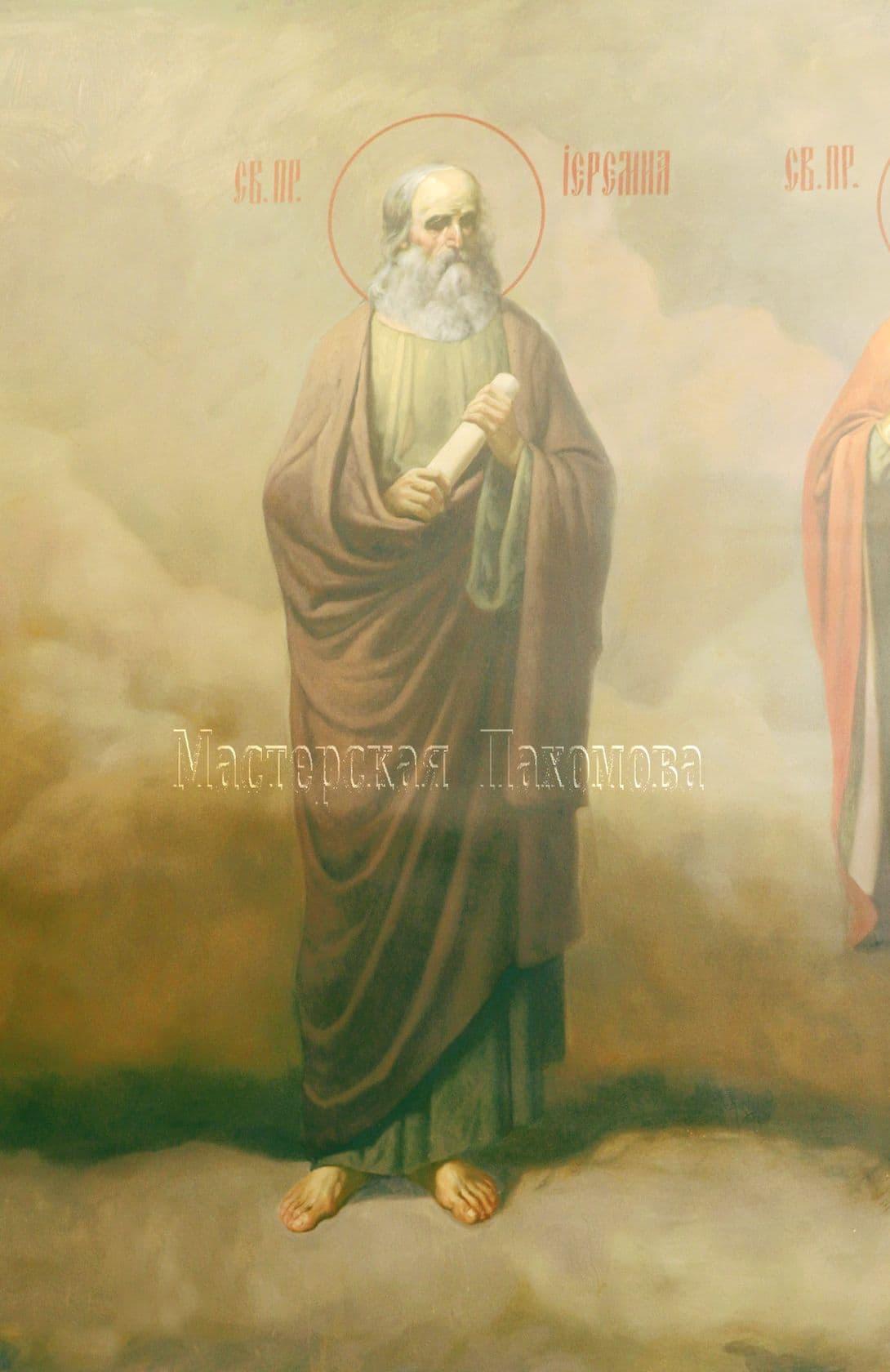 Святой пророк Иеремия. Роспись храма выполнена в академическом стиле