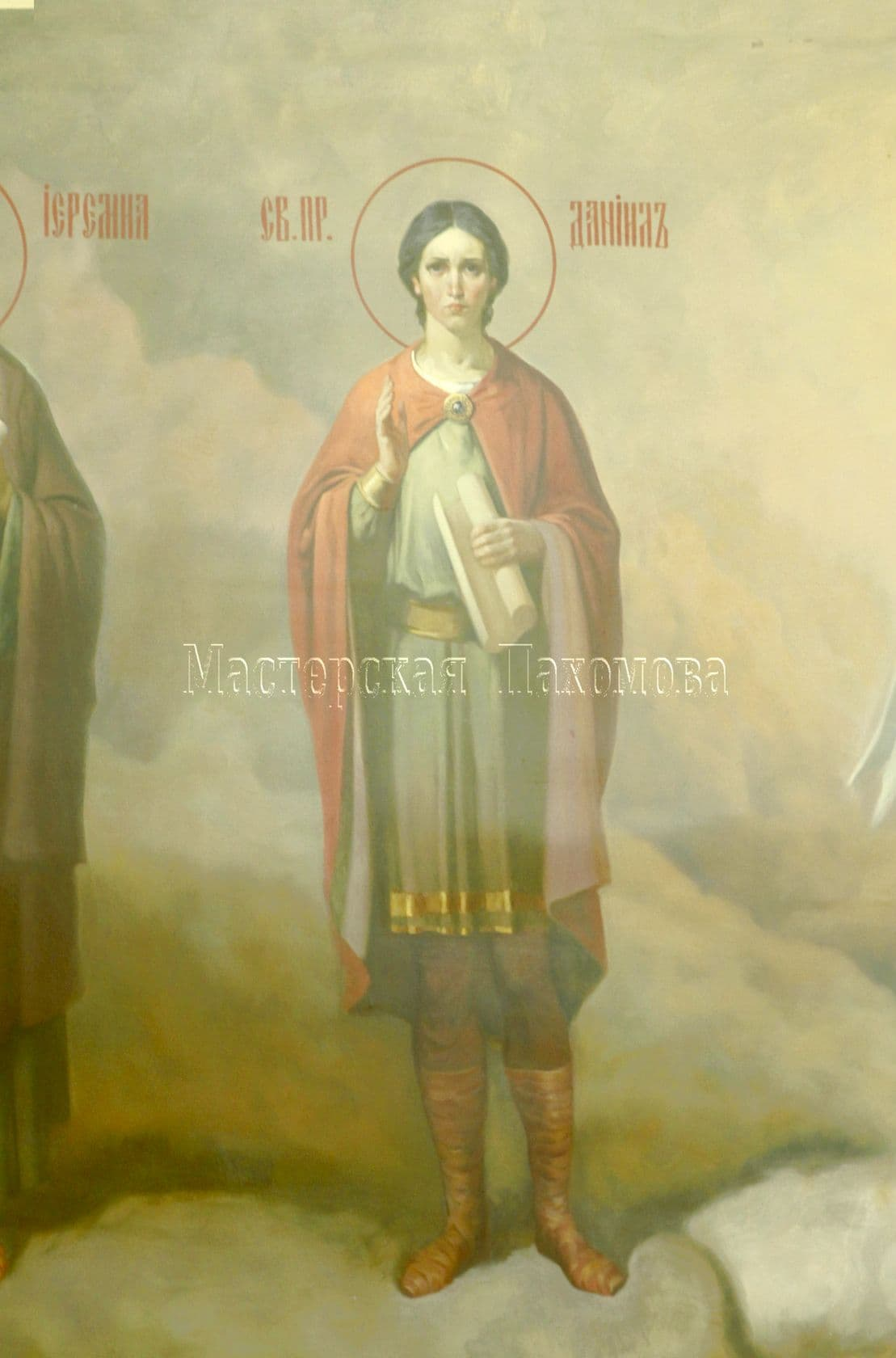 Роспись стен в храме - икона Святого Даниила