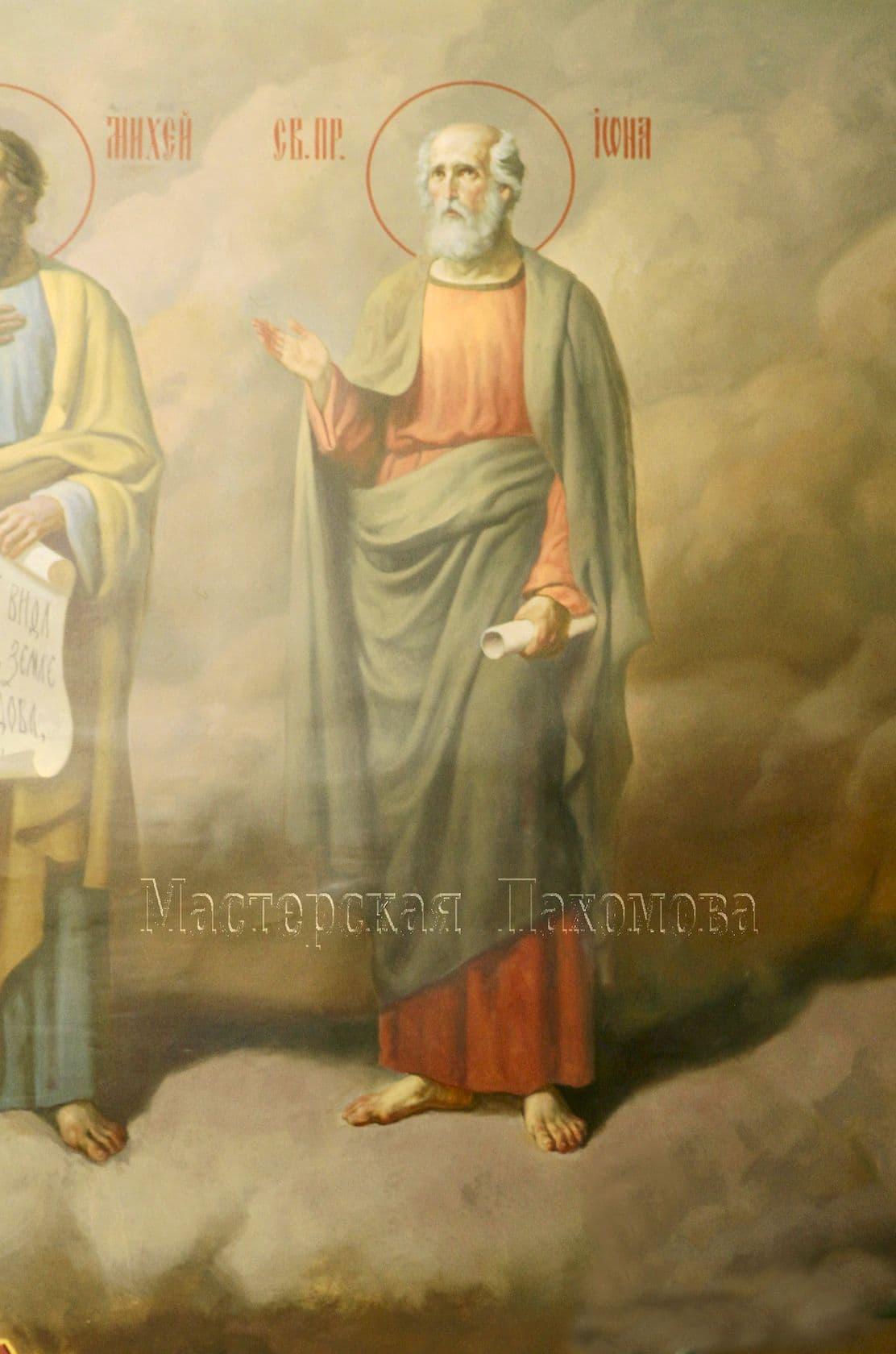 Святой пророк Иона. Стенопись в храме, иконопись в храме. Иконописная мастерская