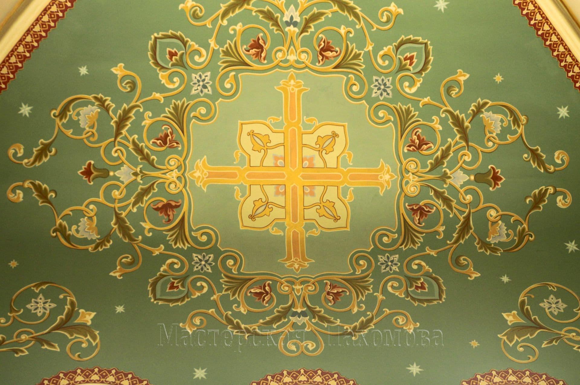 Украшение храма - растительный орнамент. Роспись храмов, церквей и соборов