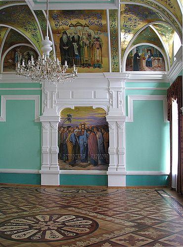 Роспись стен. Иисус благословляющий апостолов.