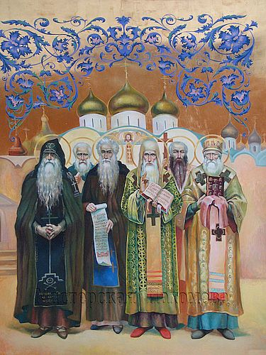 Святители и чудотворцы. Роспись храма.