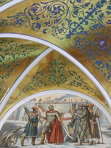 Росписи стен конференц зала Ставропольской Епархии. Академический стиль