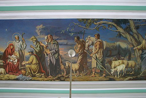 Росписи потолка конференц зала Ставропольской Епархии. Центральная композиция