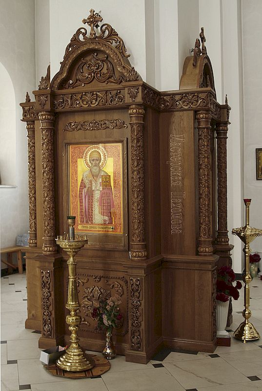 Напольный киот в Храме Александра Невского с. Александровское