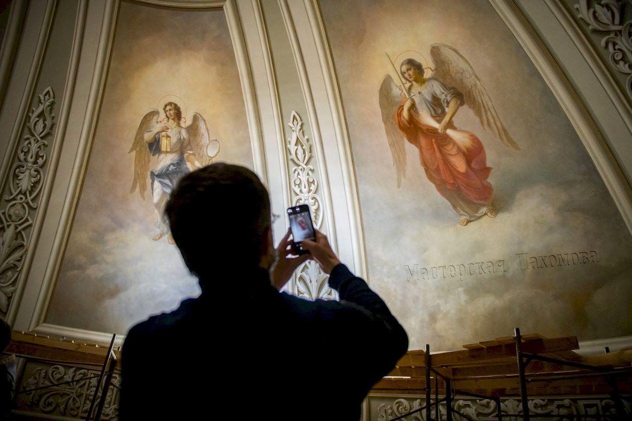 Авторская роспись живописи собора Казанской иконы Божией Матери