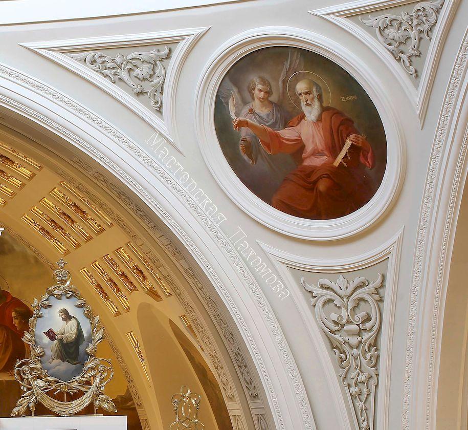 Академическая живопись на парусах собора Казанской иконы Божией Матери