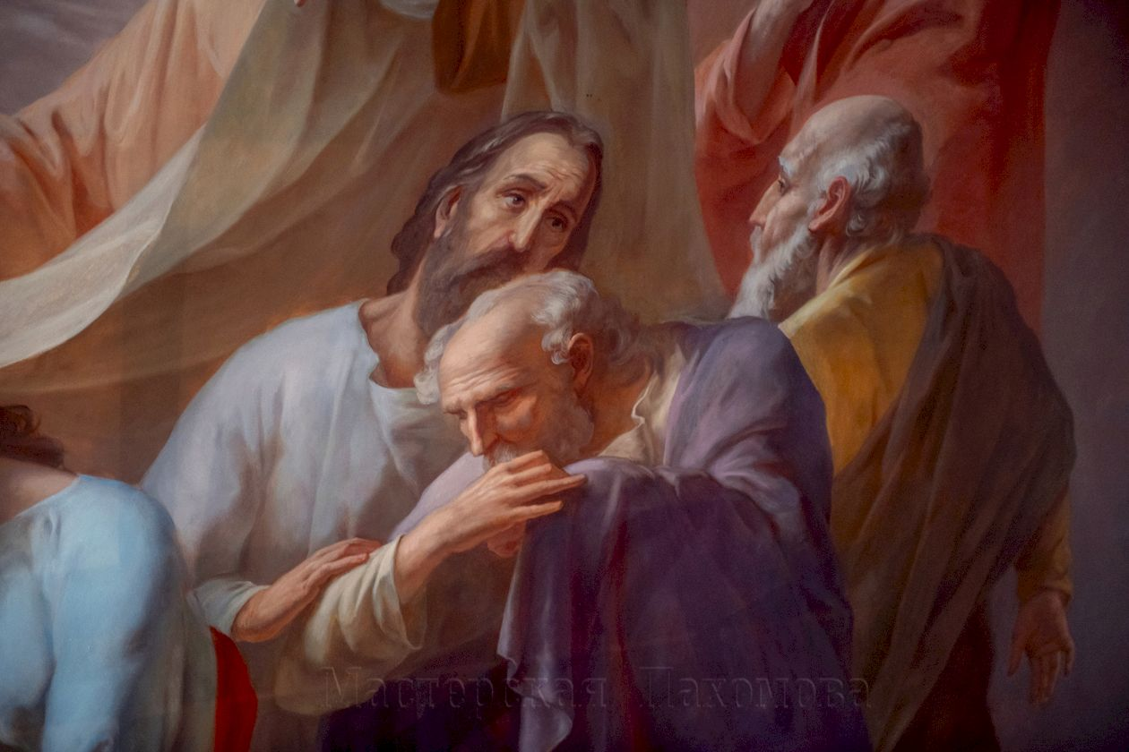 Воссоздание росписей верхнего храма Казанского собора