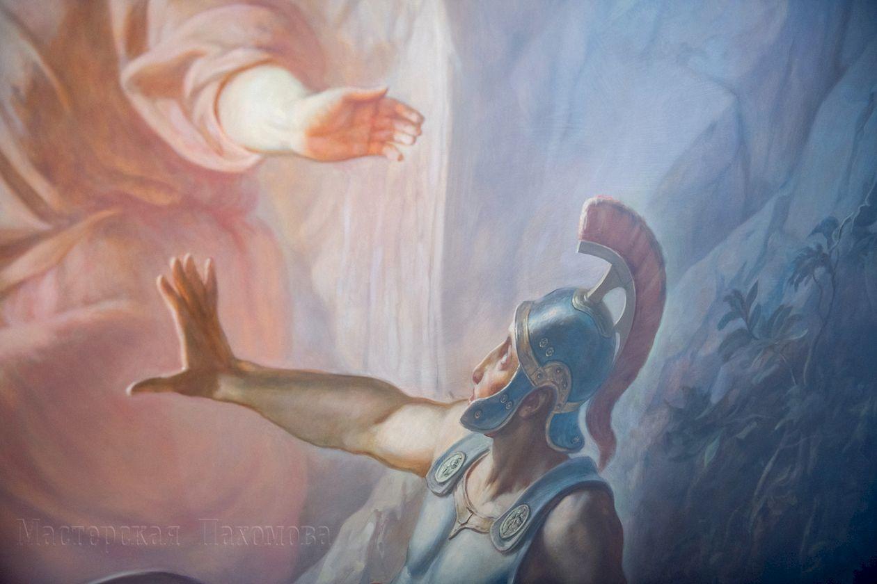 Живописные сюжеты на стенах верхнего храма Казанского собора, г.Казань