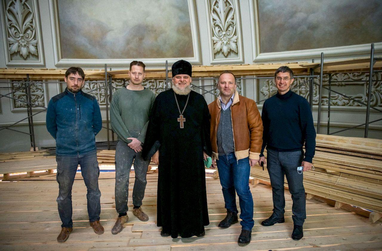 Заседание рабочей комиссии по воссозданию росписи Казанского собора