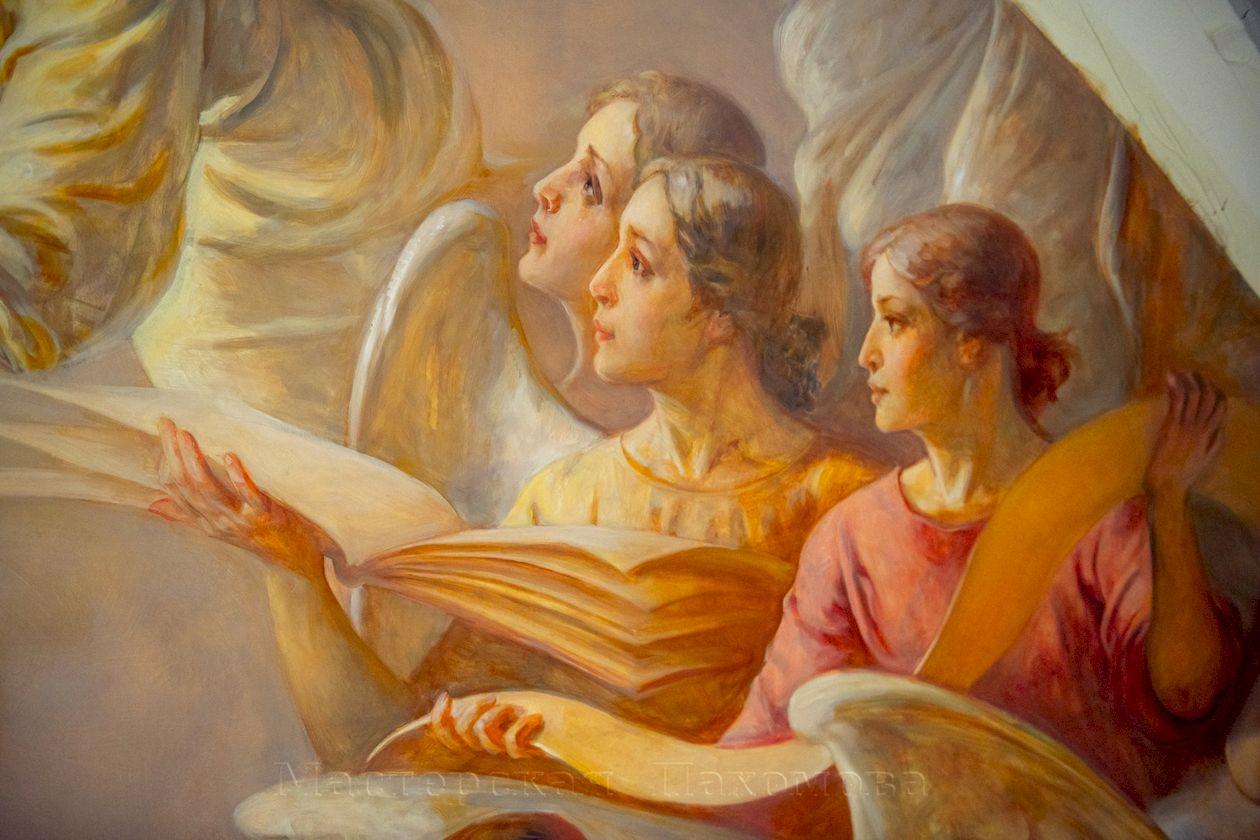 Роспись на стенах собора Казанской иконы Божией Матери. Фрагмент