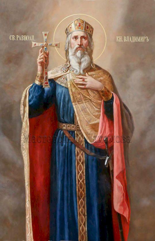 Святой Благоверный князь Владимир. Роспись стен Собора в академическом стиле