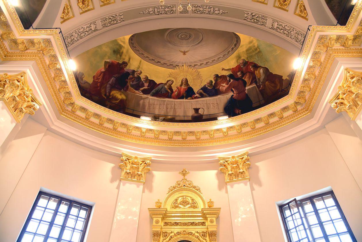 Уникальные росписи восточной конхи Казанского собора- Тайная Вечеря -главная храмовая композиция