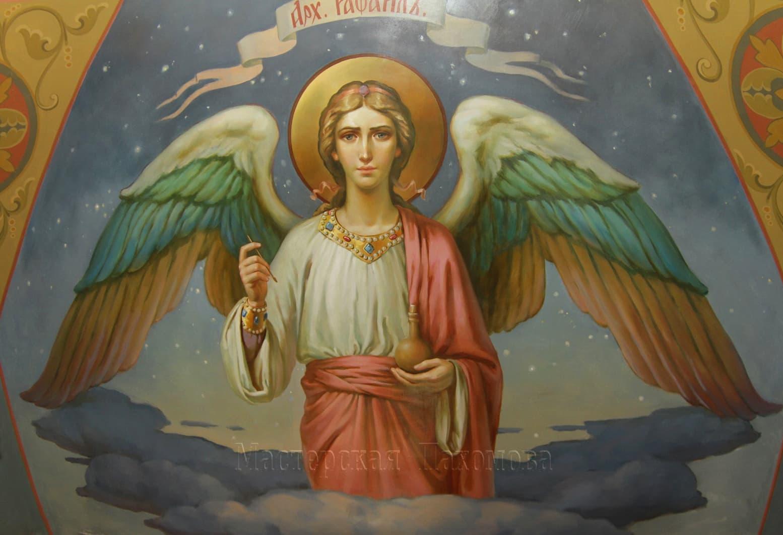 Архангел Рафаил, настенная роспись