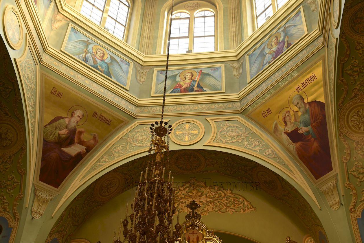 Роспись собора в академическом стиле. Авторская роспись собора
